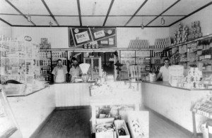 site 17 p1082 cookes store interior 1953